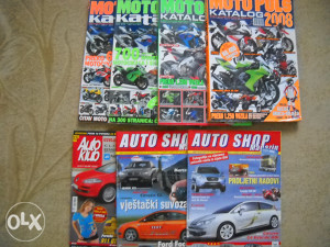 Moto puls katalog 4 komada plus 3 auto časopisa