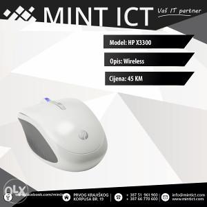Miš bežični HP X3300 bijeli