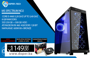 RAČUNAR CORE I5 3,20GHz, 8GB DDR3; 250 SSD RX 460 4GB