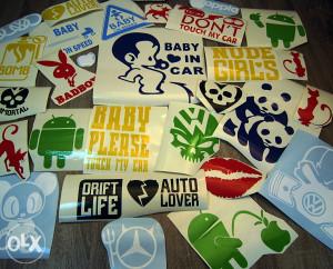 Stiker naljepnice (auto, zid, laptop itd.)