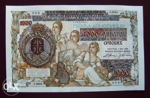 Srbija - 1000 dinara - 1941 - UNC