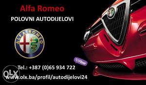 DIJELOVI Alfa Romeo 156 166 147 GT GTV DELOVI djelovi