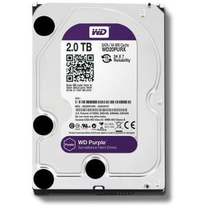 HDD DESKTOP WD Purple 2TB WD20PURZ 3Yr