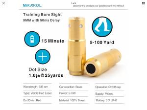 Laser 9mm za trening 9x19