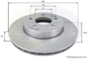 Disk pr.MERCEDES W204/W212 295mm