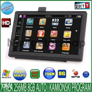 "Igo Navigacija model 2017 Gps 7"" 256MB 8GB auto,kamion"