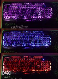 Gejmerska Tastatura LED boje Gaming GRATIS mis/podloga