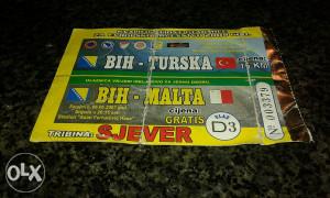 Ulaznica BiH - Turska , BiH - Malta