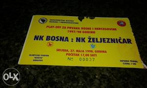 Ulaznica Play-off za prvaka 1997/98