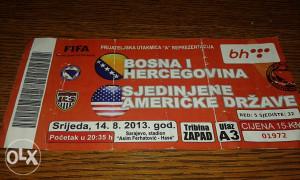 Ulaznica BiH - SAD