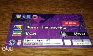 Ulaznica BiH - Iran