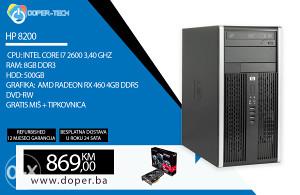 RAČUNAR HP 8200 i7 2600 3,40 GHz 8 GB RAM ATI RX 460