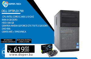 Računar DELL OPTIPLEX 790;i5 3,10 GHz; 8GB RAM;
