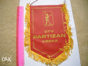 Zastavica Vatrogasaca DTV Partizan Kreka
