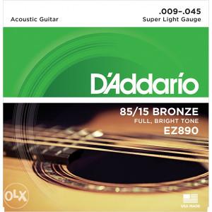 Daddario EZ890 zice za akusticnu gitaru 009-045