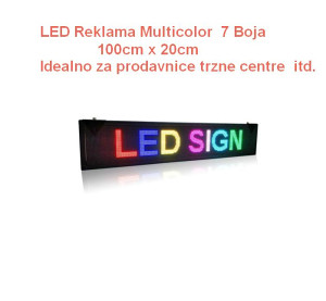 LED reklama display 100cm x 20cm u 7 boja