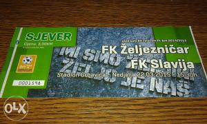 Ulaznica FK Željo - Slavija