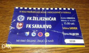 Ulaznica Željo - Sarajevo