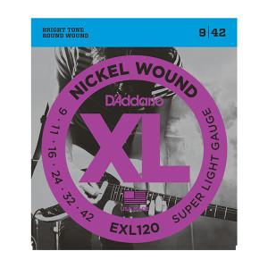 Daddario EXL120 Nickel Wound, Super Light, 9-42