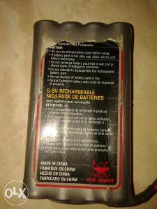 Baterija 9.6V NiCd AKKUS