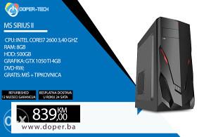 Računar MS Sirius; i7 3,4 GHZ; 8GB RAM; GTX 1050Ti
