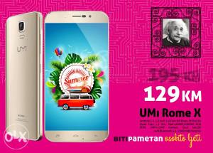 UMI Rome X -AKCIJA- 5.5 inch | 1+8GB | 13Mpx | Dual SIM