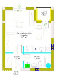 Stan 26,77 m2 Istočno Sarajevo Hilandarska Lukavica
