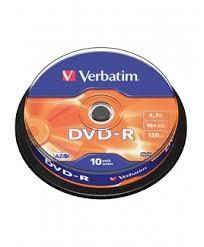 DVD-R 4.7GB 16X VERBATIM SPINDL (109)