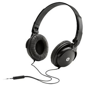 HP H2500 Folding Headset with microphone