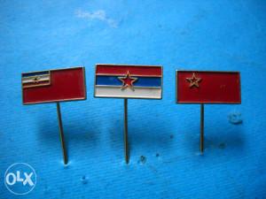 Značka - zastave republika SFRJ - 3 komada