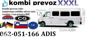 Kombi prevoz selidbe odvoz utovar istovar 062 051 166