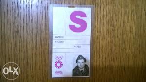 Olimpijska akreditacija - Sarajevo 84