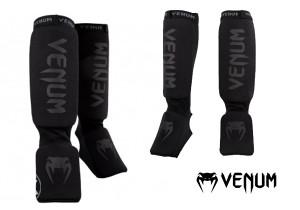 """Venum- """"Kontact Shinguards""""-Black/Black"""
