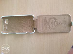Futrola za HTC SENSETION G14 kožna bež boje hand made