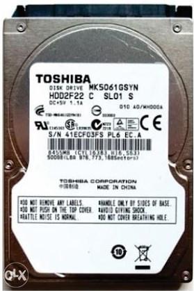 """Hard disk za laptop, 500 GB, Toshiba 2,5"""" SATA III 3"""