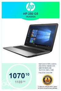 Laptop HP 250 G5 1KA00EA i5-7200U 2,5GHz