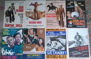 komplet 8 komada STEVE MCQUEEN orig kino plakat poster