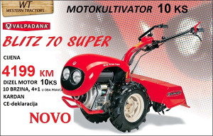MOTOKULTIVATOR VALPADANA BLITZ 70 SUPER 10 KS