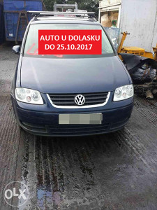 VW Touran 1.9 TDI 2004-dijelovi limarije i mehanike