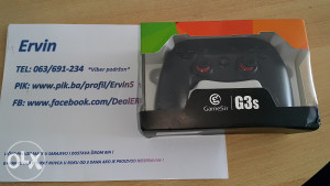 GameSir G3 gamepad, extra oprema, za boxove/PS3/PC