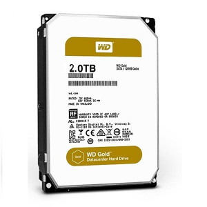 Western Digital 2TB WD GOLD 128MB NOVO!!!!!