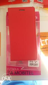 Crvena preklopna futrola Samsung S7