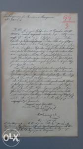 Stari dokument - 1899.