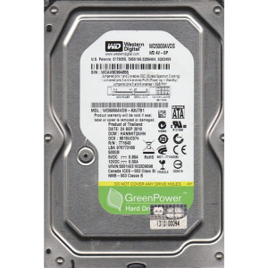 HDD INT 500GB WD5000AVDS PULL (6001)