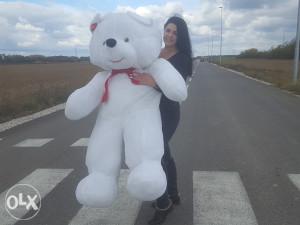 Veliki plisani medvjed/medo bijeli 170cm l NOVO