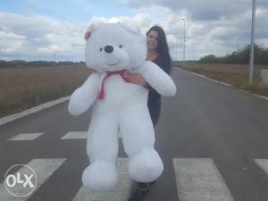 Veliki plisani medvjed/medo bijeli 170cm