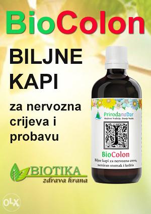Biljne kapi za nervozna crijeva i stomak BIOCOLON