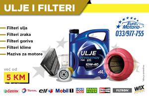 Filteri i ulja - Fantastične cijene!