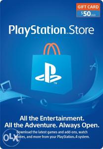 PS4 50$ PSN PLAYSTATION NETWORK CARD