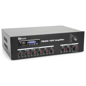 POJAČALO 100V/MIKSETA MP3/SD/USB/BT/TUNER PBA60 NEW